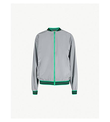 FYODOR GOLAN Striped-trim reflective shell jacket (Grey