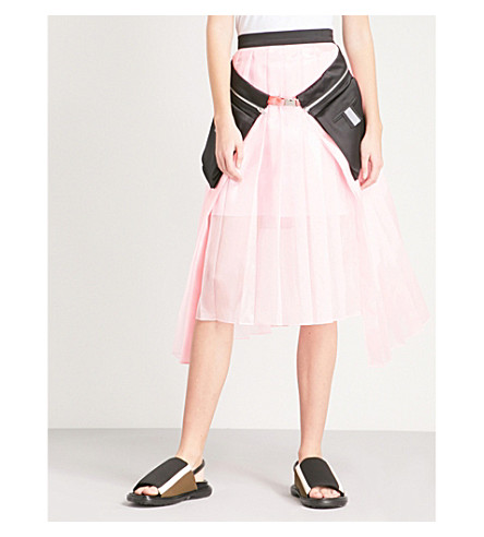 FYODOR GOLAN Pocket-detail pleated high-rise chiffon skirt (Pink