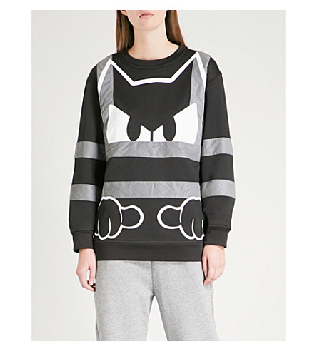 FYODOR GOLAN Felix the Cat jersey sweatshirt (Black