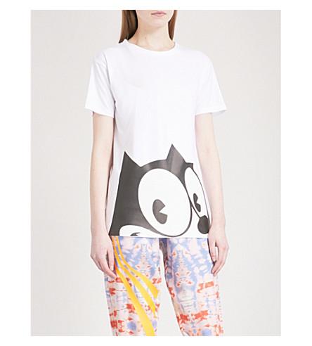 FYODOR GOLAN 费利克斯猫平纹针织面料 T 恤 (黑/白