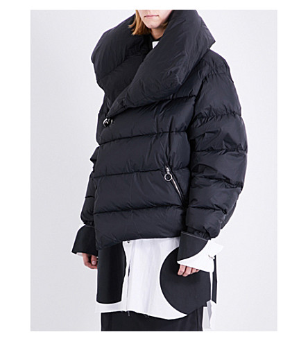 MARQUES ALMEIDA Overszied shell, down and feather-blend puffer jacket (Black