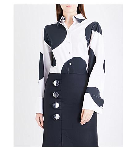 MARQUES ALMEIDA Giant polka dot cotton-poplin shirt (White+black