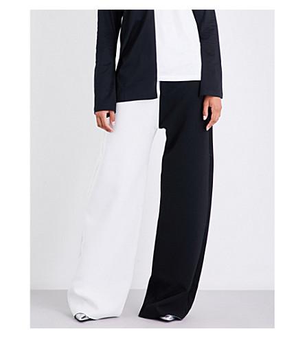 MARQUES ALMEIDA Wide-leg crepe trousers (Black+white