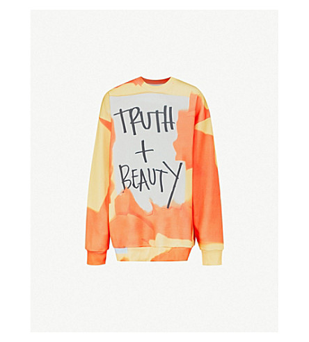 MARQUES'ALMEIDA Truth And Beauty cotton-blend sweatshirt (Truth buty