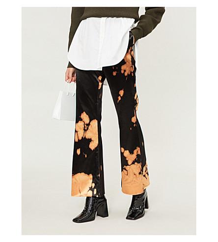 MARQUES'ALMEIDA Tie-dye wide-leg satin trousers (Bleach