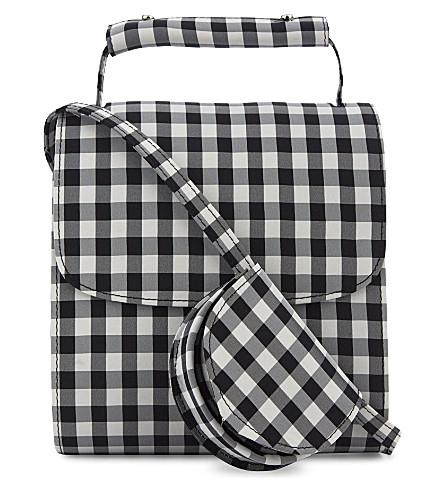 MARQUES ALMEIDA Check cross-body bag (Black gingham