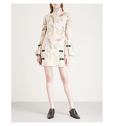MARQUES'ALMEIDA Janis floral-jacquard mini dress (Pink