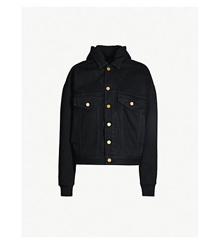 FEAR OF GOD填充弹力牛仔布和平纹针织面料夹克 (黑色