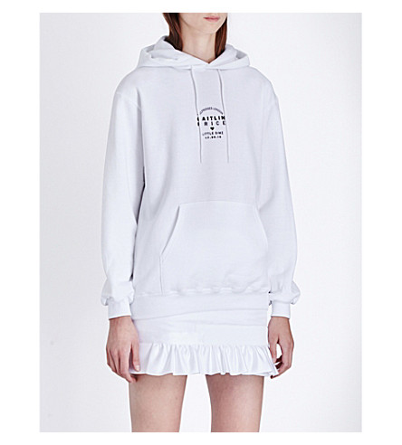 CAITLIN PRICE Caitlin Price x Little Simz jersey hoody (White