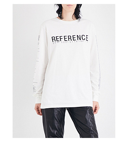 YANG LI Reference cotton-jersey top (Off+white