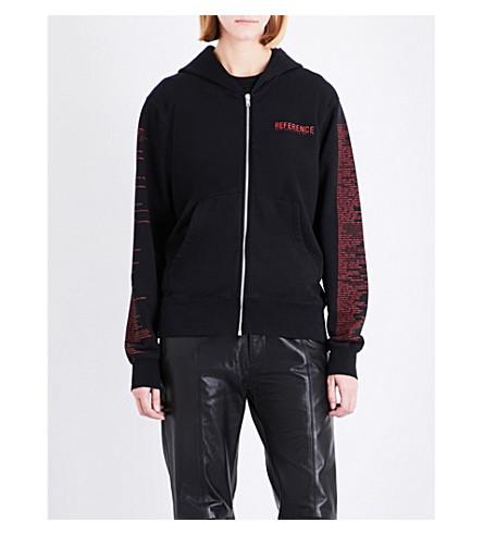 YANG LI Samizdat cotton-jersey hoody (Black
