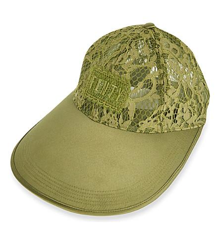 FENTY X PUMA Oversized Visor lace cap (Olive+branch