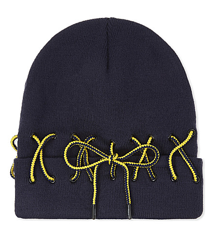 FENTY X PUMA Lace-detail beanie (Evening+blue+lemon