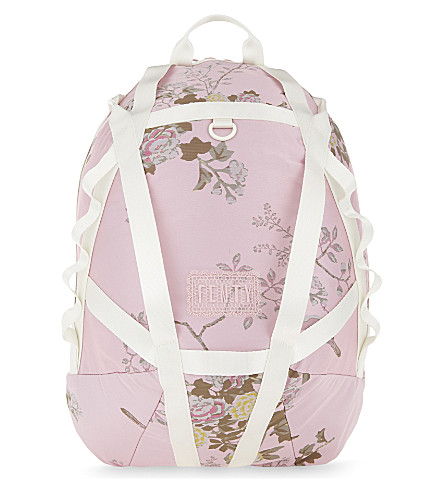 FENTY X PUMA Floral parachute backpack (Silver+pink