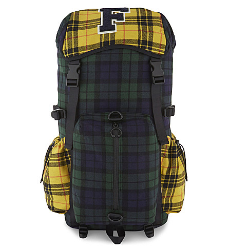 FENTY X PUMA Check backpack (Evening+blue+lemon+plaid