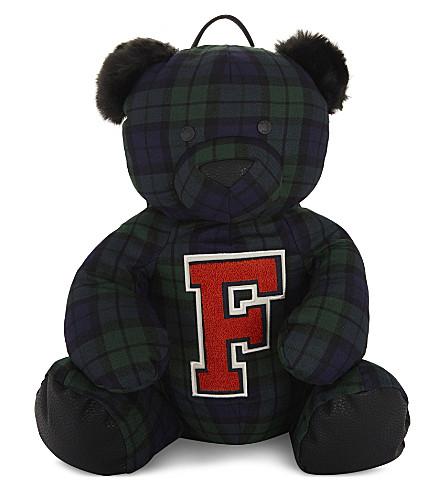 FENTY X PUMA Mascot bear tartan backpack (Evening+blue+blk+plaid