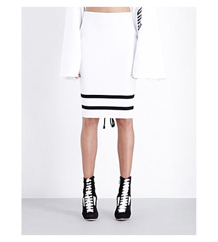 FENTY X PUMA Fenty x PUMA knitted pencil skirt (White black