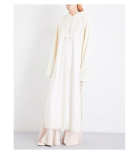 FENTY X PUMA Hooded cotton and satin-blend dress (Vanilla+ice