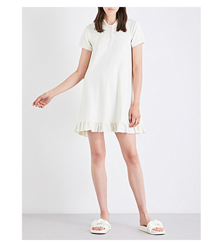 FENTY X PUMA Frill-trim cotton-piqué polo dress (Vanilla+ice