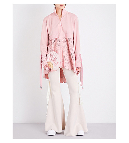 FENTY X PUMA Tricot and broderie anglaise jacket (Bridal+rose