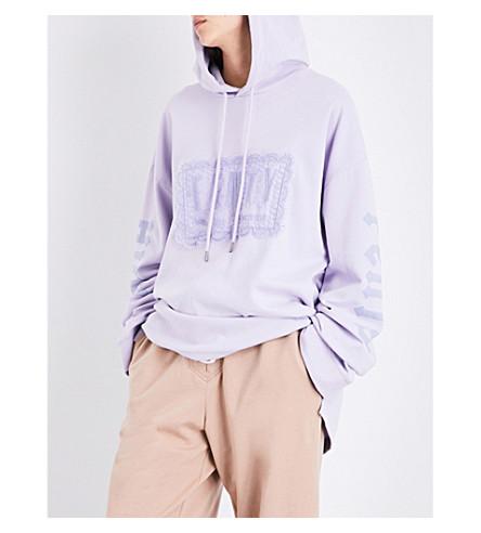 FENTY X PUMA Oversized laced jersey hoody (Thistle