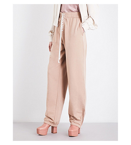 FENTY X PUMA Front lace-up jersey jogging bottoms (Natural