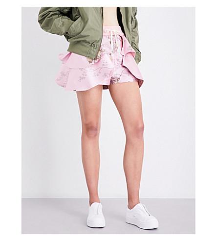 FENTY X PUMA Floral-jacquard shorts (Crystal+rose