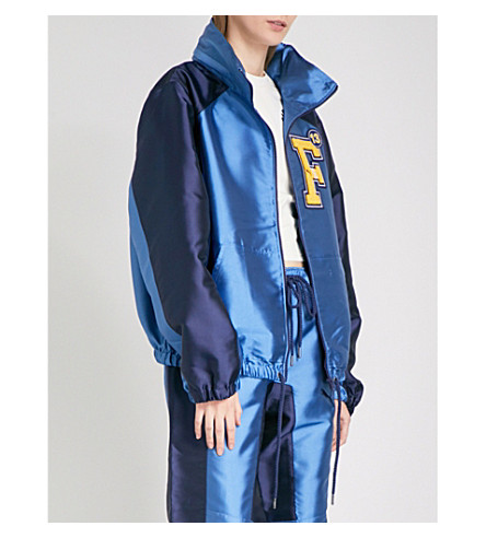 FENTY X PUMA Hooded satin jacket (Evening+blue