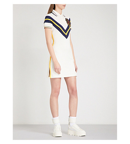 FENTY X PUMA Embroidered stretch-piqué tennis dress (Vanilla+ice
