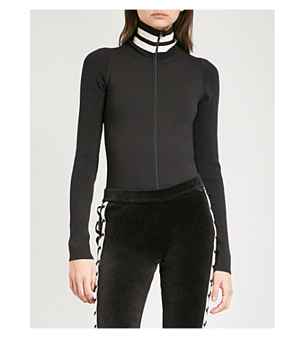 FENTY X PUMA High neck stretch-jersey body (Cotton+black
