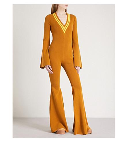 FENTY X PUMA V领针织短裤 (金色 + 棕色