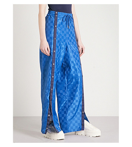 FENTY X PUMA Wide-leg shell jogging bottoms (Bright+cobalt