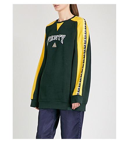 FENTY X PUMA Logo-embroidered jersey sweatshirt (Scarab+lemon