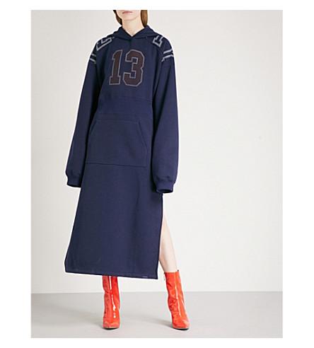 FENTY X PUMA Side-split jersey hoody dress (Evening+blue