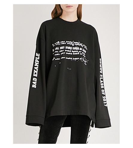 芬提 X PUMA 图形-打印球衣运动衫 (美洲狮 + 黑色