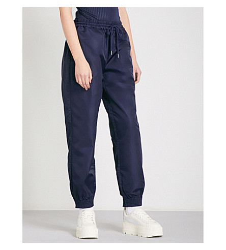 FENTY X PUMA Hidden pleat shell jogging bottoms (Evening+blue