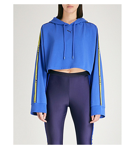 PUMA Sudadera de FENTY blue X cosido Dazzling capucha algodón con FUAaHw