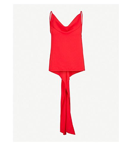 GARETH PUGH Self-tie sleeveless crepe top (Red