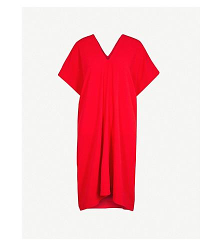 GARETH PUGH V-neck crepe kaftan dress (Red