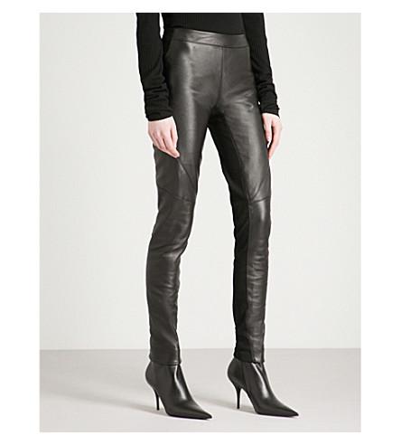 GARETH PUGH Skinny mid-rise leather leggings (Blk
