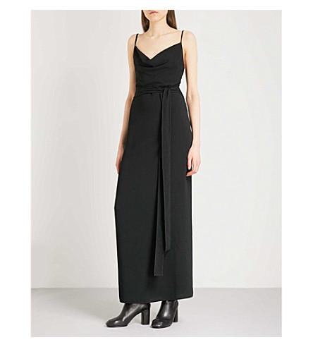 GARETH PUGH Backless crepe wrap dress (Blk