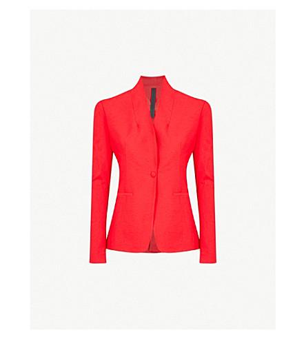GARETH PUGH Shawl collar woven tuxedo jacket (Red
