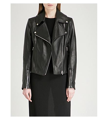 GARETH PUGH Leather biker jacket (Blk