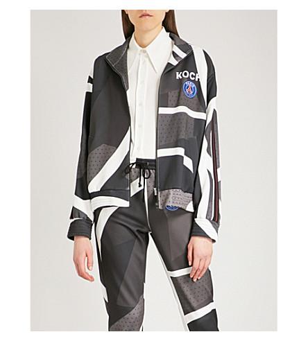 KOCHE Lamyland Paris Saint-Germain stretch-jersey jacket (Black/white