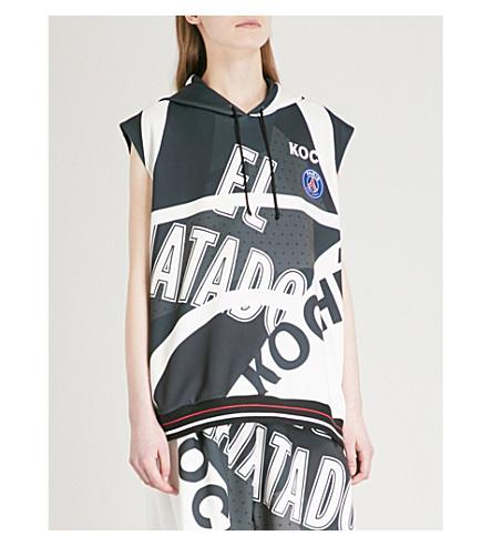 KOCHE Lamyland Paris Saint-Germain neoprene hoody (Black/white