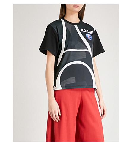 KOCHE Lamyland Paris Saint-Germain cotton-jersey T-shirt (Black/white