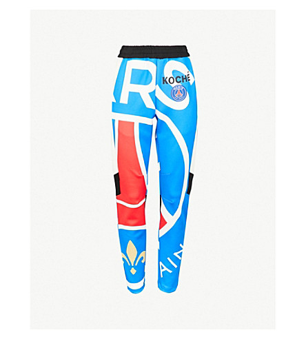KOCHE Paris Saint-Germain-print jersey jogging bottoms (Red