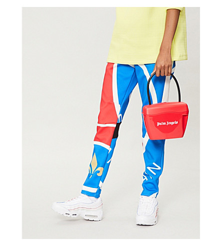 KOCHE Paris Saint-Germain-print jersey jogging bottoms (Red