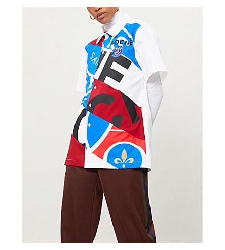 KOCHE Paris Saint-Germain-print cotton shirt (Blue