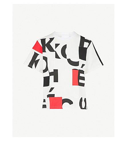 KOCHE Panelled cotton-blend jersey T-shirt (White